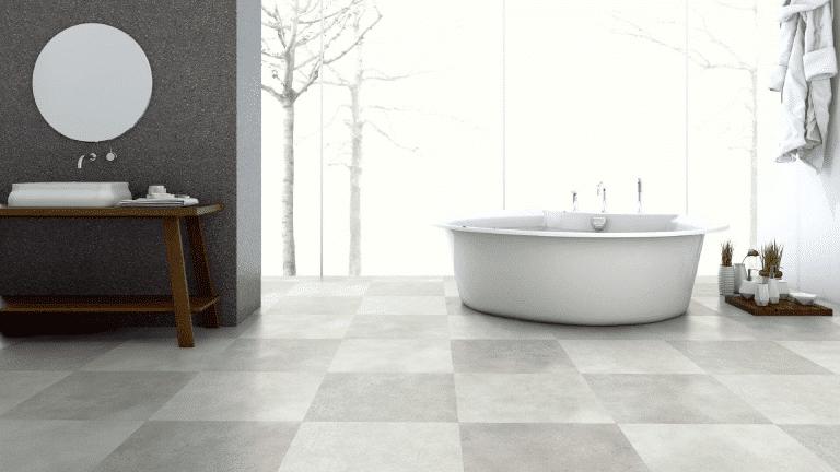 Badezimmer mit Vinylboden